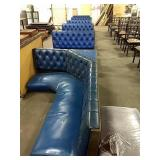1 Lot 5 Section Blue Booth Seats & 1 Corner &