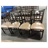 8x Metal Window Framed Dining Chairs w/ Milk