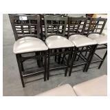 8x Metal Window Framed Bar Chairs w/ Mocha