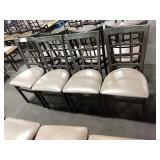 8x Metal Window Framed Dining Chairs w/