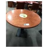 """Cherry Stained 34"""" Round Dining Table w/ Single"""