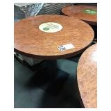 """Cherry Stained 28"""" Round Dining Table w/ Single"""