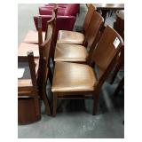 3x In Sync Wood Frame Dining Chairs w/ Brown