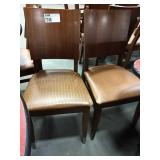 2x In Sync Wood Frame Dining Chairs w/ Brown