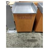 Maple & Grey Trash / Tray Station