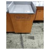 Maple & Grey Recycle / Tray Station
