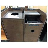 Rolling Brown Trash, Platter, Silverware Station