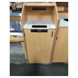 Maple & Stone-Look Fleck Top Trash / Tray