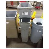 1 Lot 5 Asst Grey Trash Cans