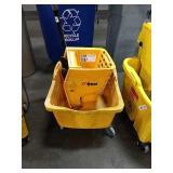 Yellow Winco Mop Bucket w/ Wringer