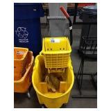 Yellow Rubbermaid Mop Bucket w/ Wringer