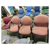 1 Lot 4 Asst Office Chairs: (1) Stationary Mauve,