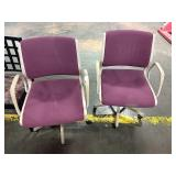 1 Lot 2 Plum Office Chairs