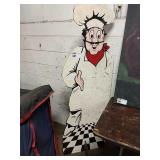 Cut Out Chef Sign, Approx 6