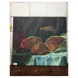 """Large Bread Still Life Canvas, Approx 58"""" x 52"""""""
