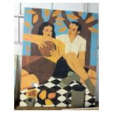 "Man & Woman Canvas, Approx 44"" x 58"""