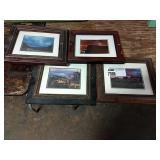 1 Lot 4 Framed Scotland Photographs