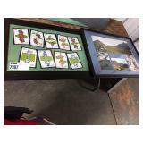 1 Lot Black Framed Scottish Card Picture & Isle