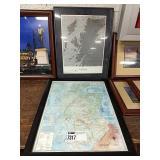 1 Lot 2 Framed Scottish Maps