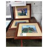 1 Lot 3 Scottish Photographs in Brown Wooden