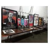 1 Lot 007 Bond Pictures: 5 Large Framed Posters,