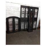 1 Lot 5 Black Framed w/ Iron Scroll Decor Pieces