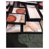1 Lot 6 Black Framed Kitchen Still Life Canvases