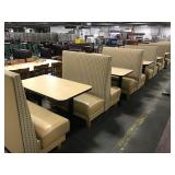 7x Sections Booth Seating: Grey & Yellow Fabric