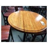 "Wood Round 30"" Bar Height Table w/ Single 4-Spoke"