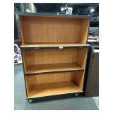 "Rolling Wood Grained Shelf 48"" wide x 66"" tall x"