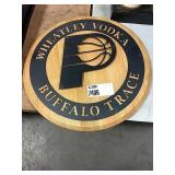 Pacers Wheatley Vodka Metal & Wood Sign