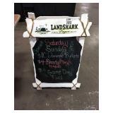 Landshark Chalk Sidewalk Sign