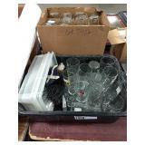 1 Lot Bus Tub & Box Asst Glassware: Bell
