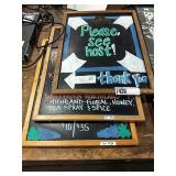 1 Lot 3 Wood Framed Chalk Paint Signs