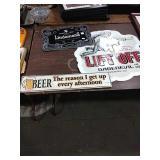 1 Lot Beer Reason, Lindemans & Lift Off Metal