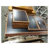 1 Lot Skid 9 Asst Oak Wrap Plank Top Table Tops,