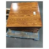 "1 Lot 5 Asst 34"" Wood Square Tables: (4) Drop"