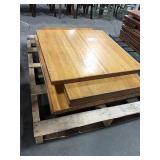 "1 Lot 5 Asst Wood Table Tops: (2) 42"" x 30"", (2)"