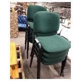 1 Lot 9 Black Frame w/ Green Cushion & Back Stack