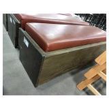 Oak Framed w/ Brown Vinyl Cushion Seat