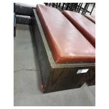 Oak Framed w/ Brown Vinyl Cushion Seat, Approx