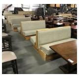 5x Sections Light Wood Booth Seating w/ Woven