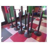 Nine Assorted Crown Control Poles