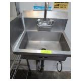 Two Stainless Steel Wall Mounted Hand Sinks