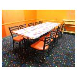 Seating Package in Glow Room: Three Large Tables,