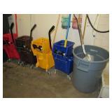 Contents of Sprinkler Room: Trash Bins, Supplies O