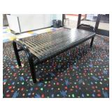 Black Metal Double Sided Bench