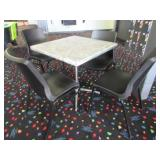 Five Assorted Stainless Steel Tables and Twelve Bl