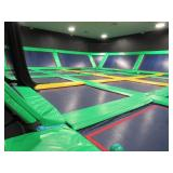Large Trampoline Attraction with Black Fence (by I