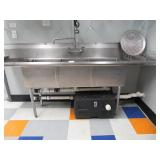 Stainless Steel Compartment Sink: Left and Right-S